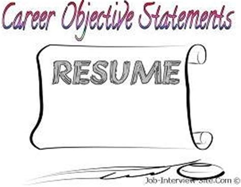 Samples of job objectives on a resume