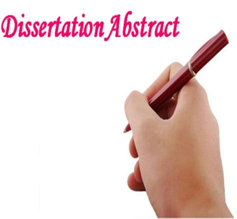Contents pages for dissertations